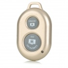 Wireless Bluetooth V3.0 Selfie Remote Shutter for iOS / Android Phones - Champagne (1 x CR2032)