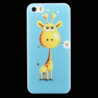 Ultra-thin Embossed Giraffe Pattern Protective Plastic Back Cover Case for IPHONE 5 / 5S