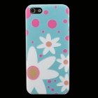 Ultra-thin Embossed Flowers Protective Plastic Back Cover Case for IPHONE 5 / 5S