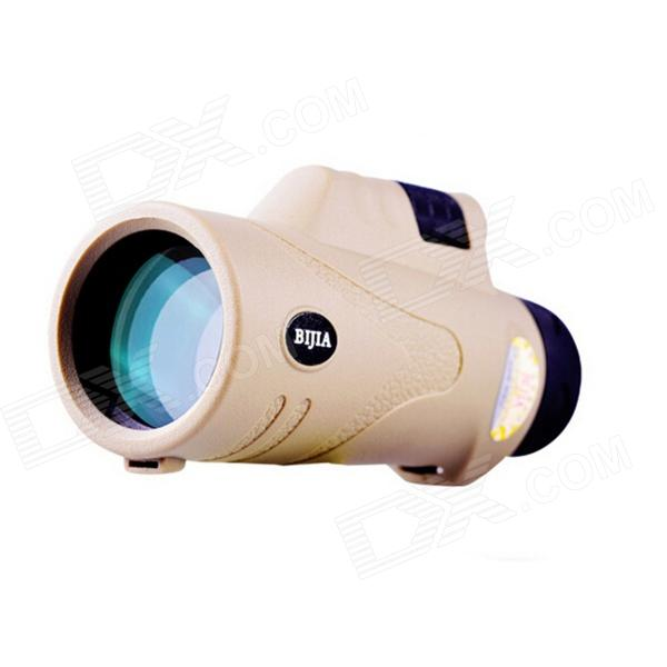 BIJIA10x42 Wide-angle High-power High-definition Night Vision Monocular - Khaki
