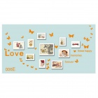 Butterflies + Love Pattern Home Decorative PVC Wall Sticker - Orange