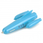 Airplane Shaped 5V 2.1A USB Car Charger for IPHONE / IPOD / IPAD - Light Blue