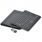 Bluetooth V3.0 78-Key Keyboard w/ Detachable PU Leather Case for Microsoft Surface Pro 3 - Black
