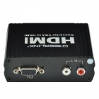 CHEERLINK L3V2HD01 VGA + R/L to HDMI Converter - Black