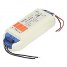 72W 12V 6.3A Constant Voltage LED Power Supply - White + Silver Grey