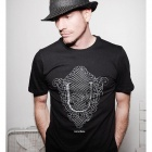 Men's Simple Stylish Basic Short-sleeved T-shirt - Black (L)