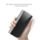"MOCREO ""10400mAh"" Portable Li-ion Battery Power Bank w/ Built-in Micro USB Cable - Black"