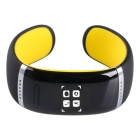 AOLUGUYA CM01 Touch Screen Bluetooth V3.0 Bracelet Smart Watch for IPHONE + More - Black + Yellow