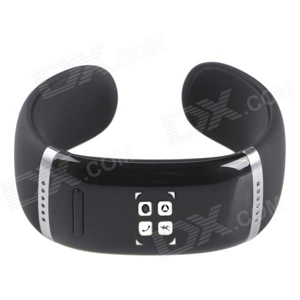 AOLUGUYA CM01 Touch Screen Bluetooth Bracelet Smart Watch for IPHONE / Samsung + More - Black u80 smart watch with pedometer function
