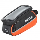 "MZYRH XS-A1 Waterproof Anti-impact Bike Frame Top Tub Bag for 4.8"" Touch Screen Cellphone - Orange"
