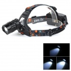 B1 CREE XM-L T6 400LM Cool White Light 5-Mode Adjustable Zooming Focus Headlamp - Black (2 x 18650)