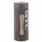 Rechargeable 1500mAh 3.7V 26650 Li-ion Battery - Brown