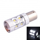 1156 BA15S 60W 550LM 6500K 12-Samsung SMD White Light LED Steering Backup Light for Car (DC12~24V)