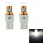 HJ  7443 8W 750lm 6500K 8-SMD 2323 LED White Light Steering Lamp Bulb for Car (12~24V, 2PCS)