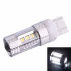 T20 80W 600LM 6500K 12-Samsung SMD LED White Light Steering Brake Light for Car (DC12~24V)