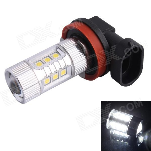 H11 80W 600LM 6500K 12-SMD LED White Light Foglight Headlamp for Car (DC12~24V) gc h11 30w 600lm 6000k white light led car headlamp fog light black silver dc10 24v