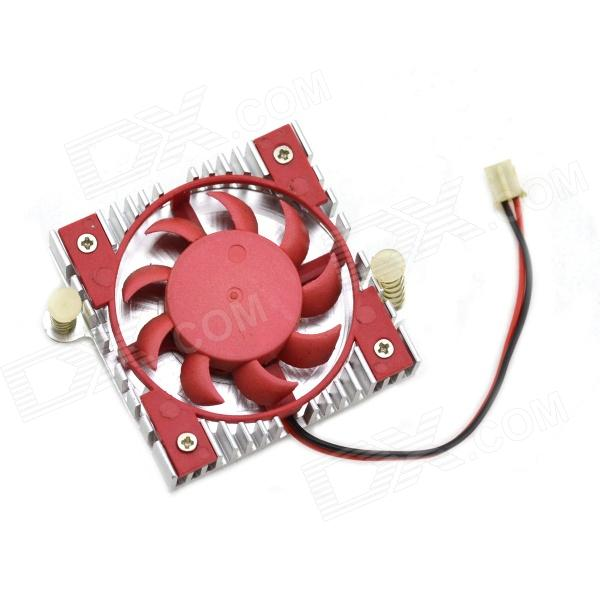 MaiTech DC 12 V 0.1A Cooling Fan - Red + Silver