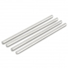 DIY 65mm Stainless Steel Shaft Rod for Model Car Model Ship - Silver (4 PCS)