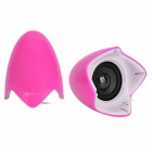 Yayusi A520 Fashionable 6W USB Speakers w/ Light - Pink + White (2 PCS)