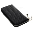 Women's Fashionable Zipper Long Style Purse - Black
