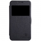 NILLKIN PU + PC Flip Open Case w/ Display Window for Samsung Galaxy Core Lite 4GG3586V - Black
