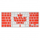 Angibabe Silicone Transparente Canadá Bandeira Padrão Keyboard Cover for MacBook Air / Pro / Retina
