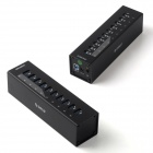 ORICO A3H10 Super Speed USB 3.0 10-Port HUB w/ 12V 4A Power Adapter - Black
