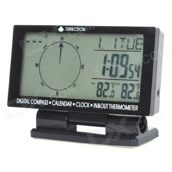 CD60 4,6' carro multifuncional Digital Compass c / visor de temperatura duplo + calendário (1 x CR2032)
