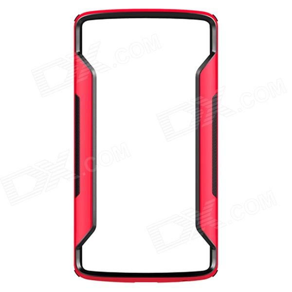 NILLKIN Protective PC + TPU Bumper Frame Case for LG G3 (D855) - Red + Black stylish aluminum alloy protective bumper frame set for iphone 4 4s black red