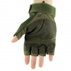 OUMILY Outdoor Tactical Mezza Finger Gloves - Verde dell'esercito ( Taglia XL / Pair)
