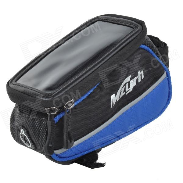 "MZYRH XS-A1 Waterproof Anti-impact Bike Frame Top Tub Bag for 4.8"" Touch Screen Cellphone - Blue (OthersMZYRH) Boise товары новое"