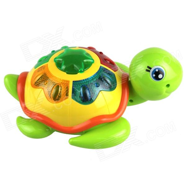 Plastic Turtle Toy w/ Eggs - Green + Yellow + Multicolored (3 x AA)