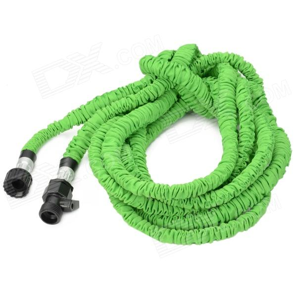Europe Standard 50ft Home Garden Flexible Natural Latex Water Pipe - Green european standard 25ft home garden flexible natural latex water pipe green