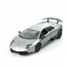 1:24 Lamborghini Style LP670 4-Channel Remote Control R/C Toy Car w/ LED Light - Silver
