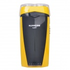 RUNWE RS867 2-Blade Rechargeable Electric Shaver - Black + Yellow (220V)