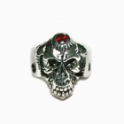 Cool Skull Style Stainless Steel Ring - Silver (U.S Size 11)