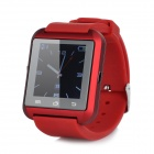 "Uwatch U8 Wearable 1.48"" Touch Screen Smart Watch w/ Bluetooth & Pedometer - Red"