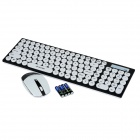R.horse RH-9350 2.4GHz Wireless Keyboard 105-Key + souris optique - blanc + noir