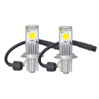 MELEA H7 24W 1800lm 3500K Cree CXA1512 Warm White Light Car LED Headlamp (2 PCS)