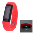 "Uwatch Usee 0.91"" Screen Nano-Tech Waterproof Bluetooth Smart WiFi Wrist Band Bracelet Watch - Red"