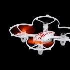 X-40 2.4GHz 4-CH 360 Degrees Rotating Mini Aircraft w/ Light / Gyro - White + Orange (6 x AA)