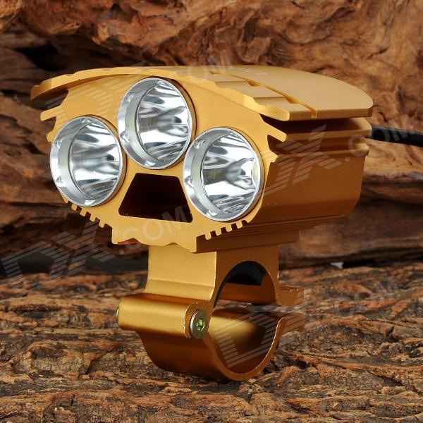 unique-fire-hd-017-3-led-4-mode-white-light-bicycle-lamp-golden