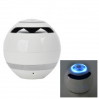 BT800 Mini Wireless Bluetooth Subwoofer Speaker w/ Mic. / FM / TF Card Slot - White
