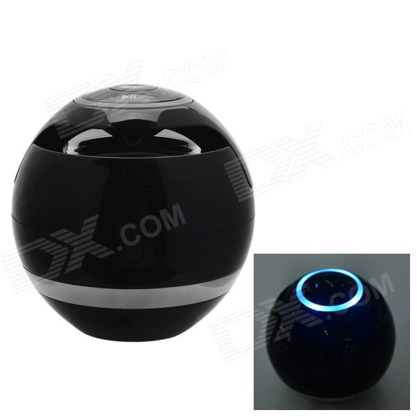 BT800 Mini Wireless Bluetooth Subwoofer Speaker w/ Mic. / FM / TF Card Slot - Black
