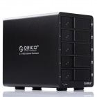 "ORICO 9558RU3 5 Bay Aluminum USB3.0 to 3.5"" SATA Hard Drive Enclosure RAID Case - Black"