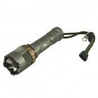 Pange XM-L T6 5-Mode 700LM  White Rotate Zooming Tactical Flashlight (1 x 18650)