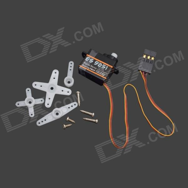 EMAX ES9251 Universal 2.5g Digital Plastic Gear Servo - Black + Yellow f16736 emax es9252hv high voltage digital rotor tail