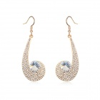 Angibabe Crystal Zinc Alloy Earrings - White + Champagne