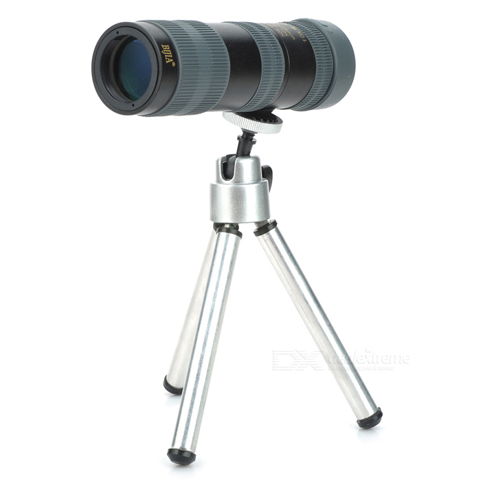 BIJIA 10-30x25 HD High-powered Night Vision Zooming Pocket Telescope Monocular - Black