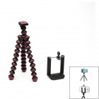JUSTONE 360' Rotary Tripod + Bracket for 5.5~8.5'' Digital Camera / Phone - Black + Deep Pink